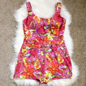 50s 60s Vintage Pin Up Swimsuit Plus Size Catalina